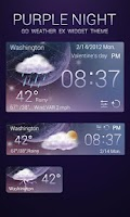 Screenshot of PURPLENIGHT THEME GO WEATHEREX