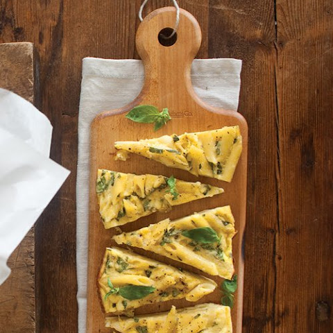Penne Frittata with Basil and Ricotta