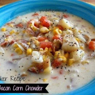 Creamy Bacon Corn Chowder - Slow Cooker