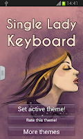 Screenshot of Single Lady Keyboard