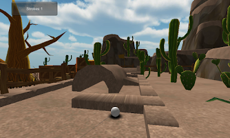 Screenshot of Mini golf games Cartoon Desert