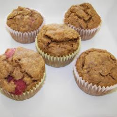 Strawberry and Banana Wholemeal Muffins