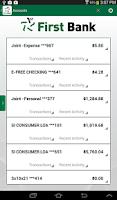 Screenshot of First Bank