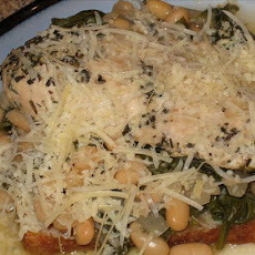Crock Pot Chicken & Beans & Greens