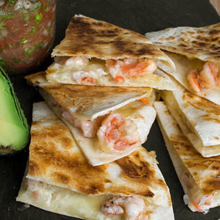 Tequila Shrimp and Asadero Quesadillas