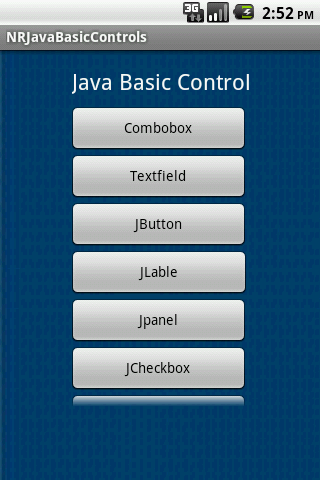 NR Java Basic Controls
