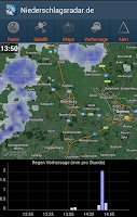 Screenshot of NiederschlagsRadar.de