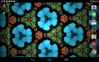 Screenshot of Free Flashy Kaleidoscope LWP