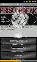 Screenshot of Prison Break Quiz Deutsch