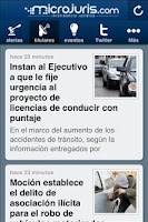 Screenshot of Microjuris al Día Chile