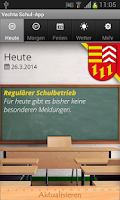 Screenshot of Vechta Schul-App