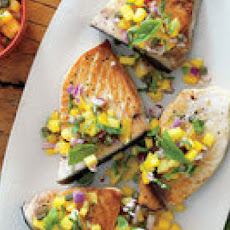 Swordfish with Mango-Caper Relish