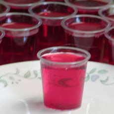 Raspberry Jello Shots
