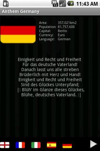 National Anthem Germany