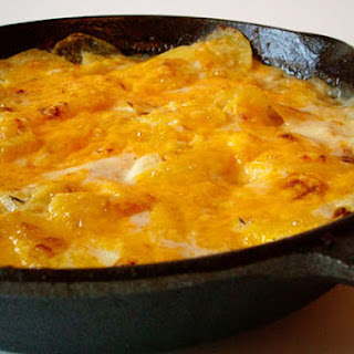 Blue Cheese and Cheddar Scalloped Potatoes