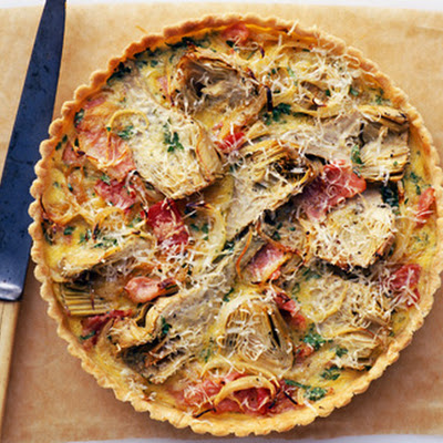 Artichoke And Bacon Tart