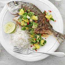 Fish With Chilli, Mango & Lime Salsa