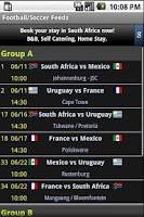Screenshot of World Cup Soccer Feed