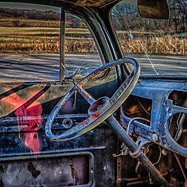 Vintage Ford Interior by Ron Meyers - Transportation Automobiles