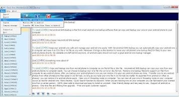 Screenshot of VeryAndroid SMS Backup