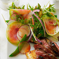Summer Radish Salad with Sweet Chili Vinaigrette