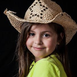 Cowgirl by Adam Barrilleaux - Babies & Children Child Portraits ( girls, cowgirl )