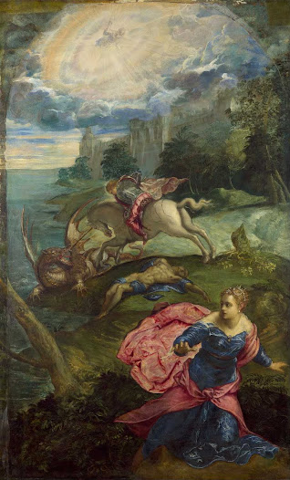 Tintoretto, San Giorgio e il drago
