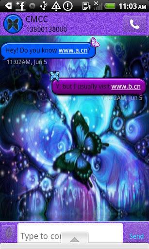 GO SMS THEME MysticButterfly
