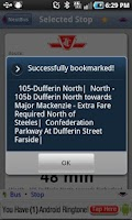 Screenshot of iNextBus Realtime Bus Tracker