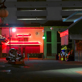 Chinatown Nights by Andy Chinn - Buildings & Architecture Other Exteriors ( noir, neon, drive, chinatown, los angeles, moody, night, only god forgives )