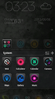 Screenshot of Dark Zero GO Launcher Theme