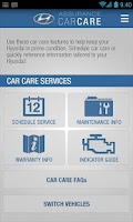 Screenshot of Hyundai Car Care