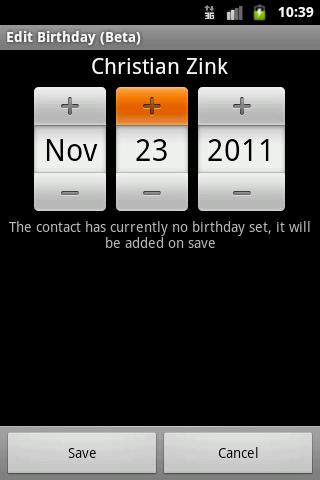 Edit Birthday