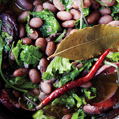 Beans with Kale and Portuguese Sausage