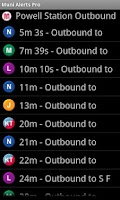 Screenshot of Muni Alerts Pro