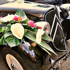 flower car by Dobrin Anca - Wedding Other ( reception, car, day, sun, flower,  )