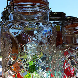 Colors Through Glass by Anne Johnson - Artistic Objects Glass ( jar, colors, art, glass, rainbow,  )