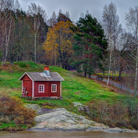 Red House by Bojan Bilas - Buildings & Architecture Homes ( red, autumn, finland, nautelanokoski, house, landscape )