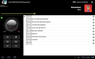 Screenshot of Droid MPD Client HD Free
