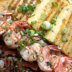 Sunday Supper: Grilled Shrimp with Chive Polenta Cakes