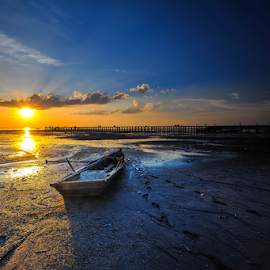 Path On The Beaches by Yose Hendradi - Landscapes Sunsets & Sunrises ( nature, path, landscape )