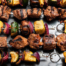 Beef and Vegetable Shish Kebabs Recipe