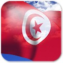 3D Tunisia Flag icon