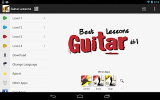 Screenshot of Guitar Lessons Beginners LITE