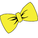 Bowtie yellow GO Launcher icon