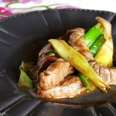Beef Jumped With Spring Onions