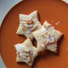 Lemon Cream Cheese Star Cookies