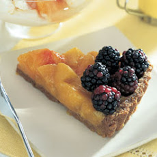 Peach and Blackberry Tart with Oatmeal-Cookie Crust