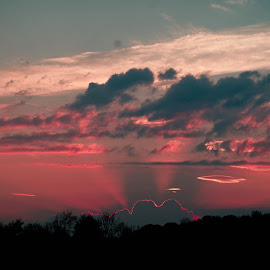 What a sunset! by Vickie Harris - Landscapes Cloud Formations