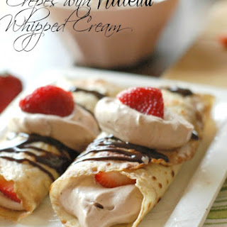 Crepes with Nutella Whipped Cream